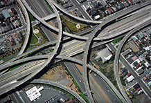 Freeway interchange - Oakland CA.  1974