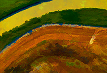 Dirt road south of Suisun City, CA   2011 - Color and detail simplified.                   (Press 'Esc' to return to the gallery.)