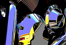 Bike Engine.  Posterized.  2005