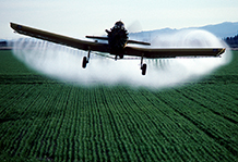 Crop duster.  Central Valley, California circa 1976.
