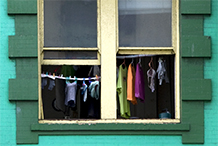 Window on Geary Street, San Francisco California.  2008